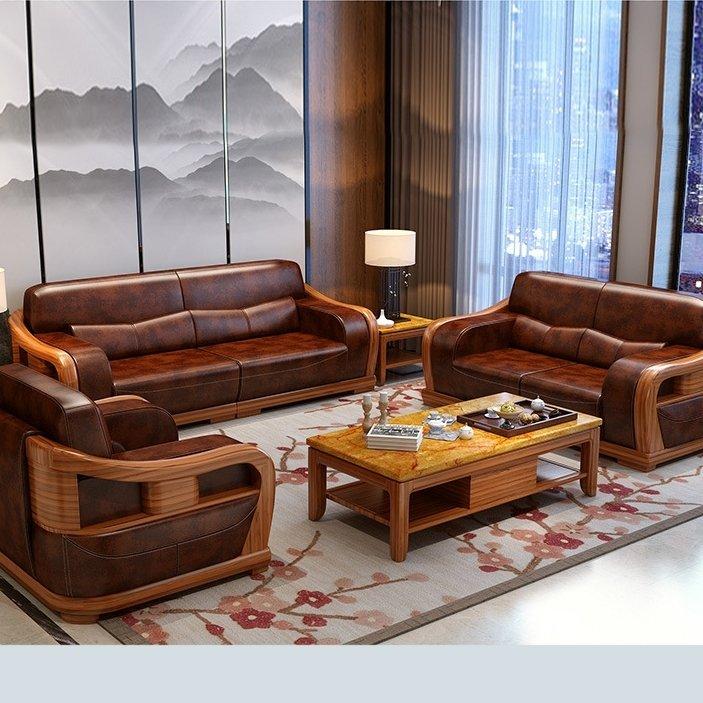 100+Bộ bàn ghế sofa gỗ đẹp hiện đại cho phòng khách