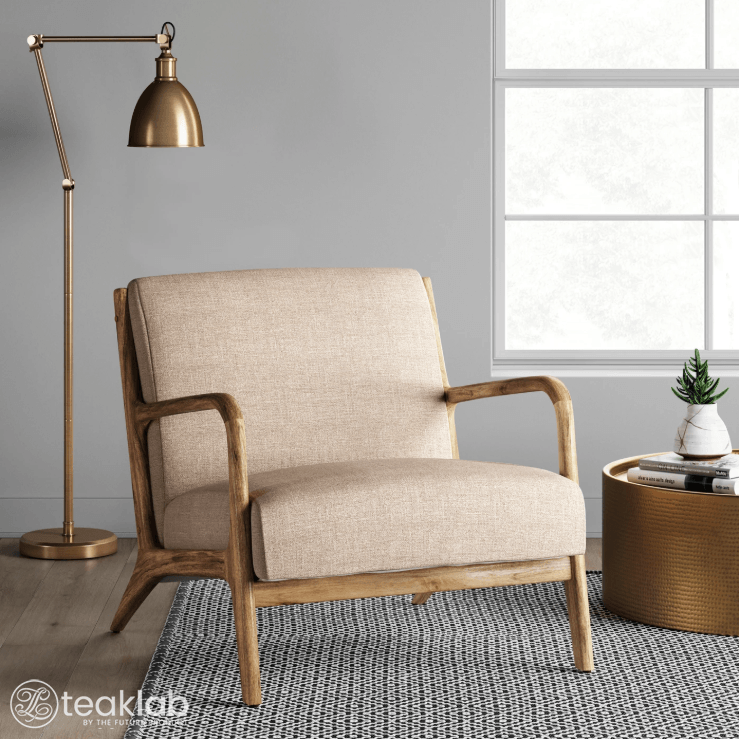 Teaklab Wood Arm Chair, Occasional Chairs With Wooden Arms