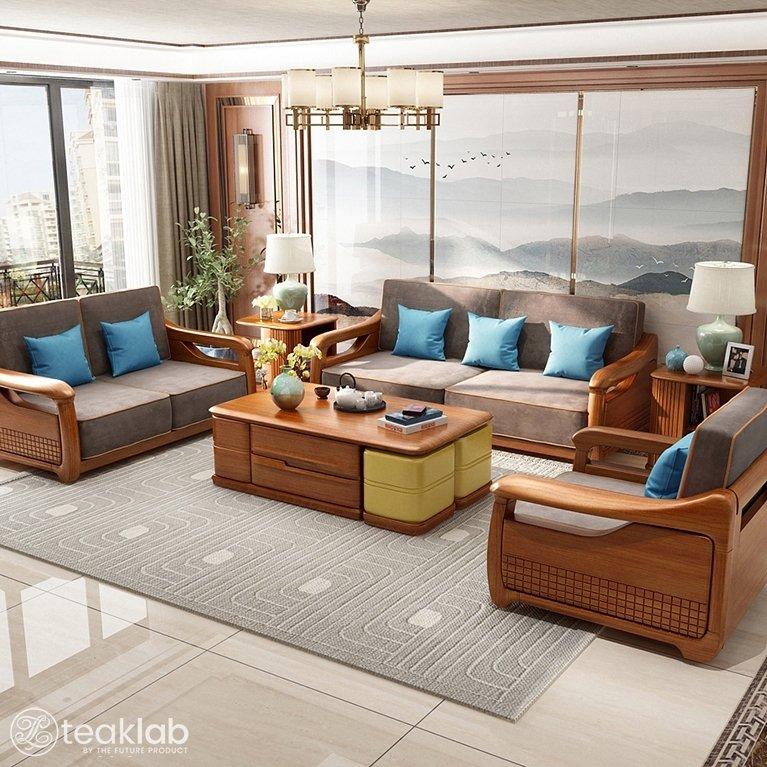 Traditional Teak Wood Sofa Set, Traditional Teak Wood Sofa Set Designs Pictures