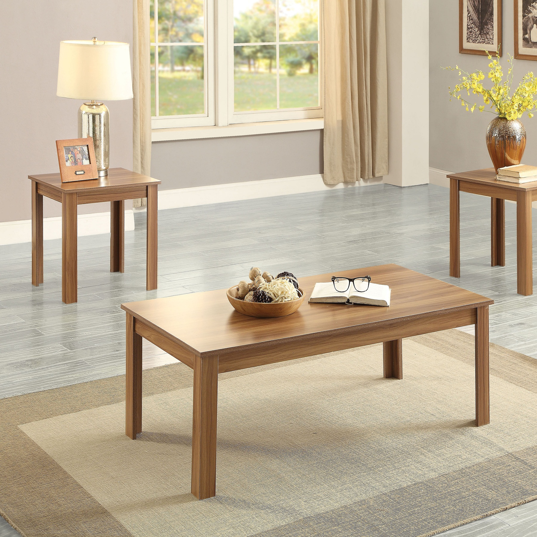 Buy Teak Coffee and End Tables (Set of 3) Online | TeakLab