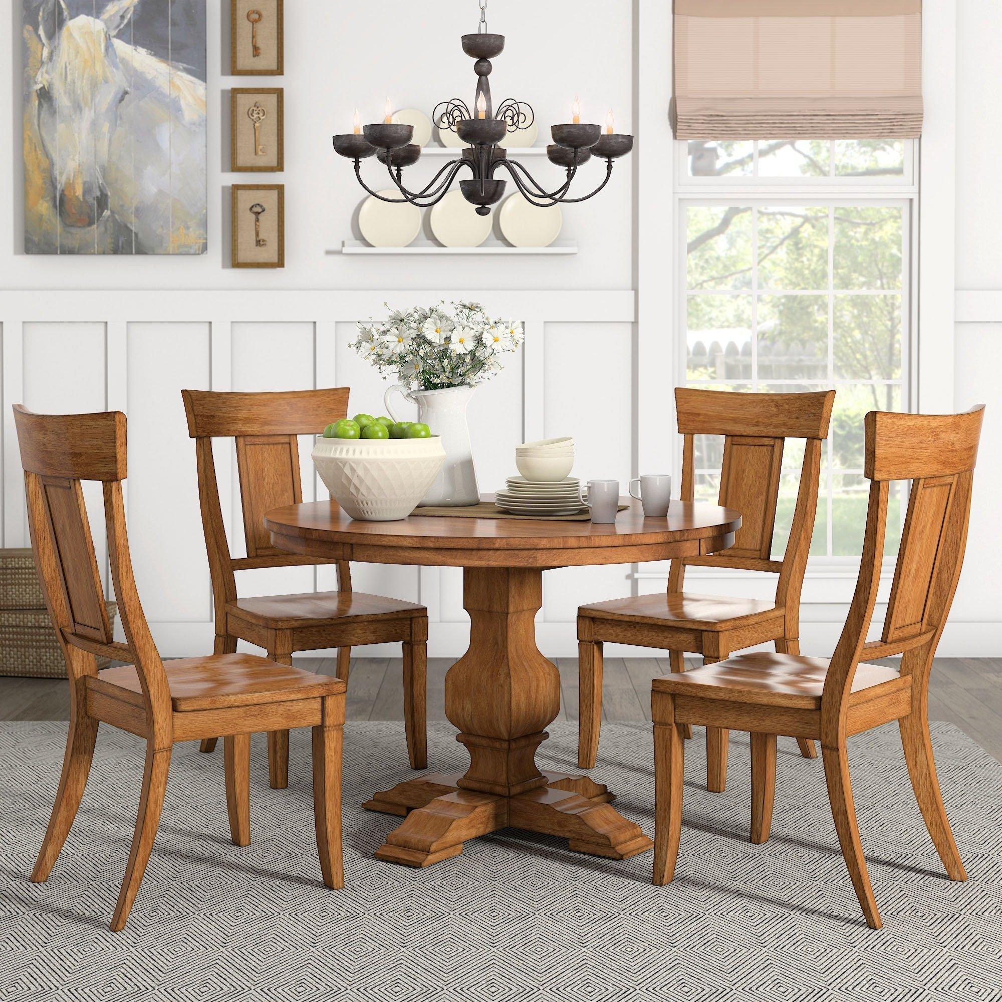 Teak Round Dining Table Set
