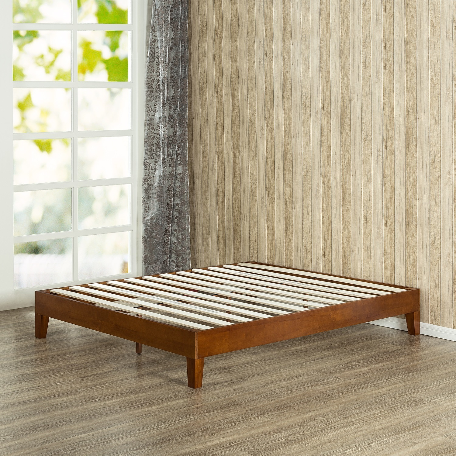 Picture of: Buy 12 Inch Deluxe Wood Full Size Platform Bed Online Teaklab