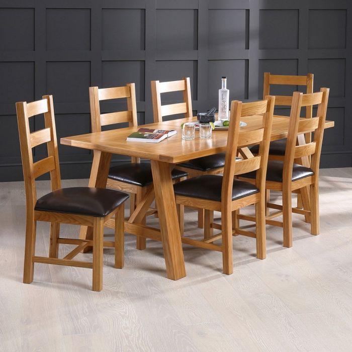 Solid Teak Wood Dining Table 6, Teak Wood Dining Room Table